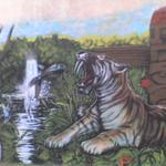 Sabretooth Tiger Catching Fish